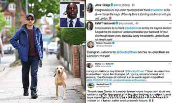 Sadiq Khan seen walking dog Luna as he retweets congratulations from fellow left-wing city chiefs