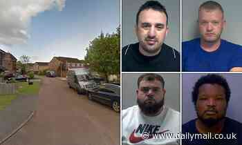 Four gang members are jailed for total of 57 years for shooting a man through his car window