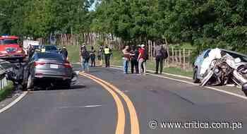 Tanganazo mortal en Pesé. Heridos quedaron atrapados dentro del vehículo - Crítica Panamá