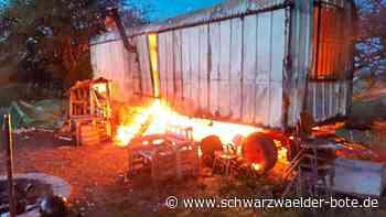 Feuer in Fluorn-Winzeln - Jugend verliert durch Brand den Treffpunkt - Schwarzwälder Bote
