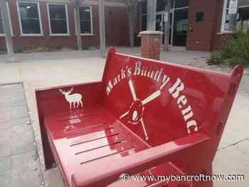 """Baseball for Dad expands, installs new """"Buddy Bench"""" in Maynooth - mybancroftnow.com"""