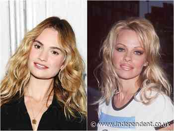 Lily James: Pursuit of Love star undergoes unrecognisable transformation into Pamela Anderson for new series - The Independent