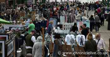 See crowds flock to the popular Tynemouth Market on busy Sunday