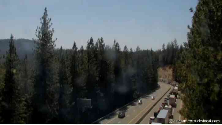 Westbound I-80 Closed Near Gold Run As Truck Fire Spreads To Vegetation, Placer Sheriff Says