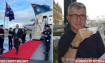 Veteran soldier Ray Martin slams Scott Morrison for red carpet walk at RAAF base in Williamtown