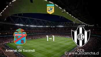 Arsenal de Sarandi y Central Córdoba SdE se reparten los puntos y empatan 1-1 - EnCancha.cl
