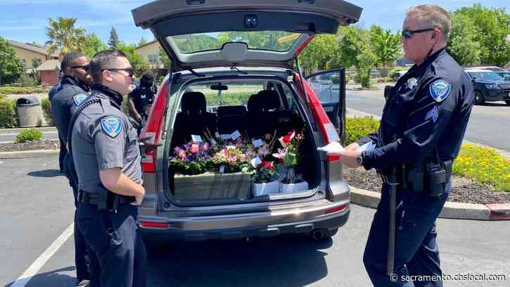 Fairfield Police Take Over Mother's Day Flower Delivery Duties After Driver Arrested For DUI, Crash