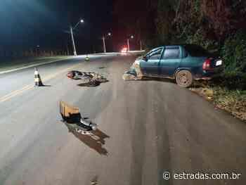 Motociclista morre na PR-456, em Palmital; condutor de carro foge do local - Estradas