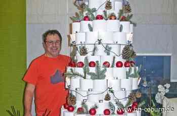 Klopapier-Kunst in Steinwiesen: Der Christbaum zum Corona-Jahr - Neue Presse Coburg - Neue Presse Coburg