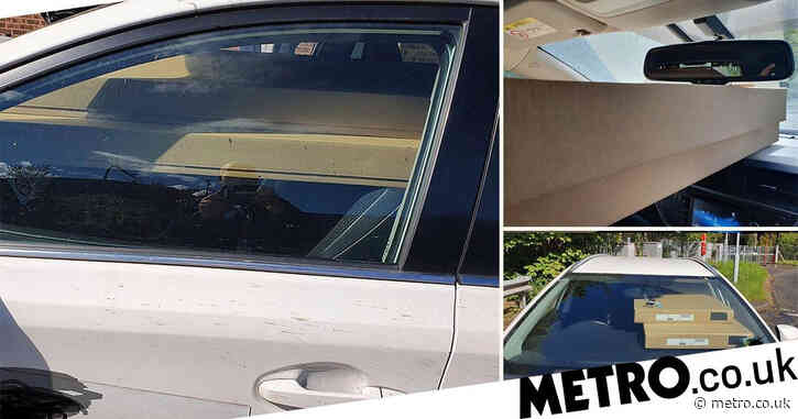 Driver pulled over on M6 for blocking windscreen with flat-pack wardrobes