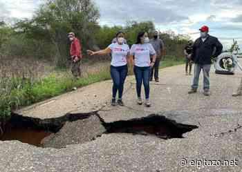Anzoátegui | Cierran paso en carretera Anaco-Barcelona por hundimiento de alcantarilla - El Pitazo