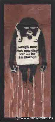Pour la première fois de son histoire, Phillips acceptera un règlement en cryptomonnaie pour une œuvre d'art physique, « Laugh Now Panel A » de Banksy