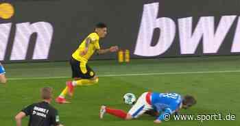Mit Trick düpiert! Jadon Sancho lacht über Fin Bartels nach Halbfinale - SPORT1