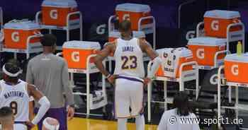 NBA: LeBron James von den Los Angeles Lakers schon wieder verletzt - SPORT1