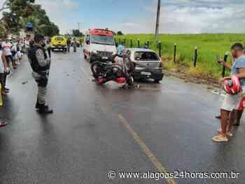 Acidente deixa dois condutores feridos em Atalaia - Alagoas 24 Horas