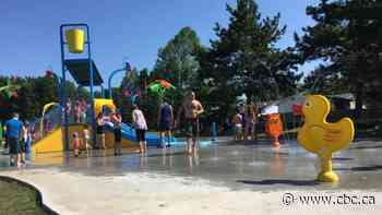 Water wheel to replace bucket at North End splash pad