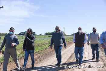 Caminos rurales: el ministro Rodríguez recorrió obras en General Paz y Brandsen - Diario La Verdad Junín