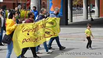 Citizens protest the Ray-Mont container project in Montreal's Mercier-Hochelaga-Maisonneuve borough - CTV News Montreal
