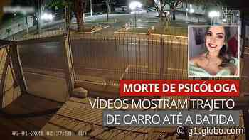 Morte de psicóloga em Assis: vídeos mostram trajeto que carro percorreu até a batida - G1