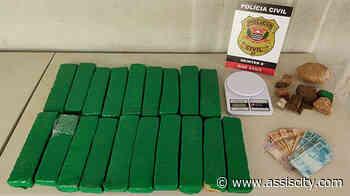 Polícia Civil apreende quase 9 quilos de maconha em Assis Drogas estavam escondidas em um guarda - Assiscity
