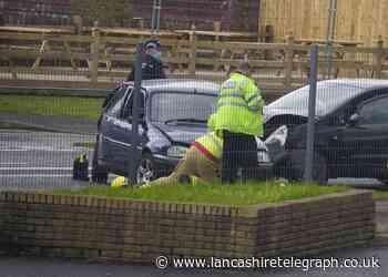 Blackburn road closed following two-car crash