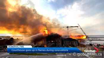 Fire sweeps through courthouse building in Quebec's Saguenay-Lac-St-Jean   Watch News Videos Online - Globalnews.ca