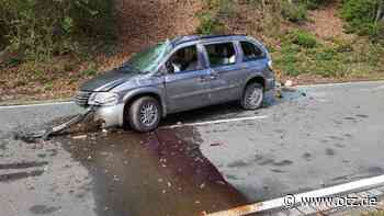 Gegen Fels geprallt: Autofahrer in Bad Blankenburg schwer verletzt - Ostthüringer Zeitung