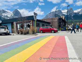 Canmore's new rainbow crosswalk recognizes LGBTQ2+ community - The Crag and Canyon