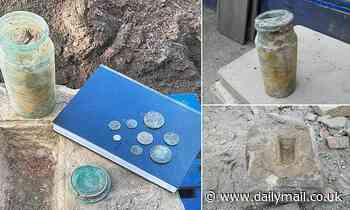 Time capsule showing young Queen Victoria unearthed under school