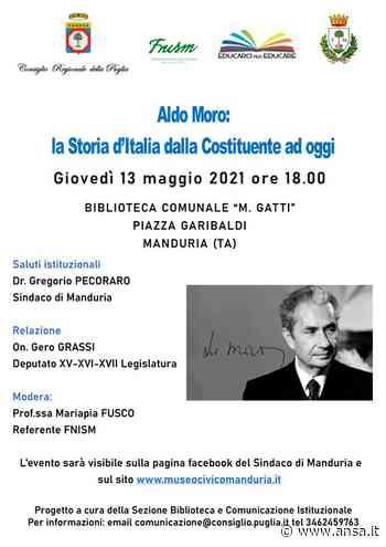 Manduria: Incontro con l'onorevole Gero Grassi, giovedì 13 maggio per ricordare Aldo Moro - ANCI Puglia - Agenzia ANSA