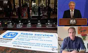 Covid England: Pubs and restaurant bosses urge Boris Johnson to DROP social distancing rules