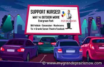 Drive-in movie highlights National Nurses Week in Grande Prairie