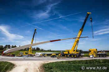 Windkraftanlagen: Bei Gerstetten ist ein Zwischenlager für Windrad-Flügel angelegt - Heidenheimer Zeitung