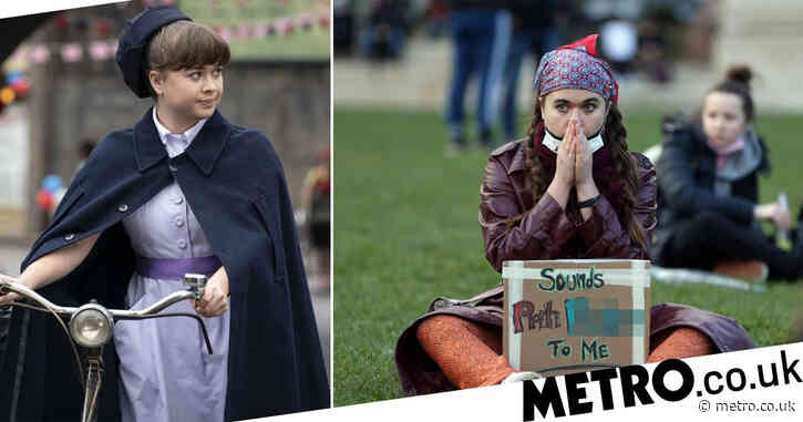 Call the Midwife star Megan Cusack waved 'sounds Priti f****d to me' sign at Kill the Bill protest
