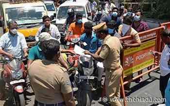 Coronavirus | Vehicle movement along border districts remains low - The Hindu