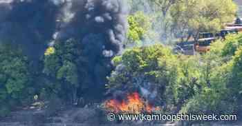 Blaze at Kamloops homeless encampment doused - Kamloops This Week