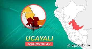 Ucayali: sismo de 4.0 sacudió Pucallpa la tarde de este domingo - ElPopular.pe