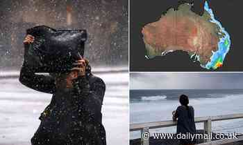 Cold snap and freak storms sweep over Australia's east coast from Brisbane to Byron Bay