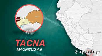 Temblor de magnitud 4.0 se sintió en Tacna la tarde de este lunes, según IGP - ElPopular.pe