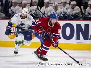 Forward Jonathan Drouin takes indefinite leave from Montreal Canadiens - Owen Sound Sun Times