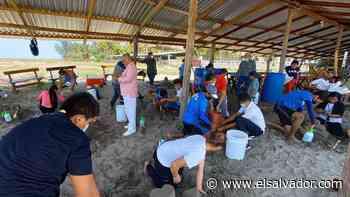 En Intipucá imparten taller de escultura en arena - elsalvador.com
