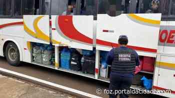 Contrabando Receita Federal e BPFron apreendem dois ônibus em Santa Terezinha de Itaipu 26/04/2021 - ® Portal da Cidade | Foz do Iguaçu