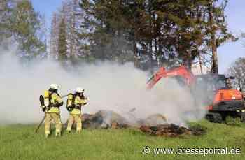 FW Asbach: Brennende Strohballen in Kölsch-Büllesbach / Brand beschäftigt die Feuerwehren an Muttertag - Presseportal.de