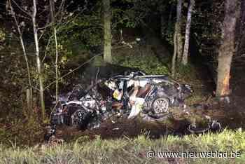Bestuurder sterft bij zwaar ongeval op E40, omstaanders redden zijn 19-jarige zoon uit brandend wrak