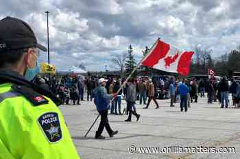 Barrie police stand by ticketing approach at 'freedom' rallies - OrilliaMatters