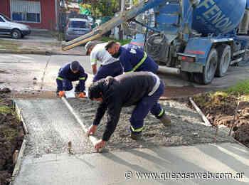 Obras de construcción de veredas en Don Torcuato - Que Pasa Web