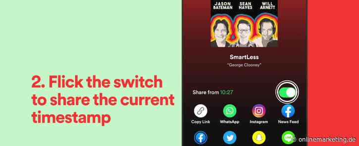 3 neue Spotify Features: So kannst du jetzt deine Lieblingsinhalte auf Social teilen