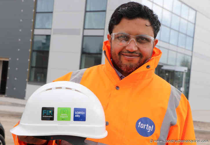 Hard hat stickers highlight workers with diversity training