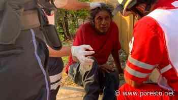 Con zapatilla, 'La Patrona' le abre la ceja a un indigente de 65 años - PorEsto