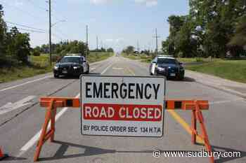 Busted beaver dam floods MR 55 at Horizon Drive in Naughton, road closed